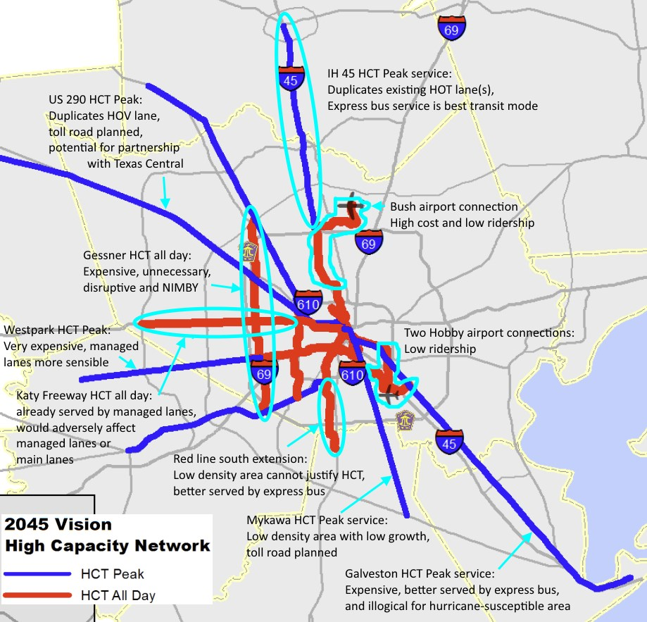 Houston Strategies Houston 2045 transit vision lacks vision in